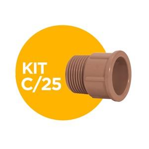 """Adaptador Soldável 32x1"""" Amanco Kit com 25"""