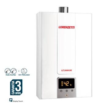 Aquecedor de Água Gás GN Digital Lorenzetti LZ2000DE BP 20L