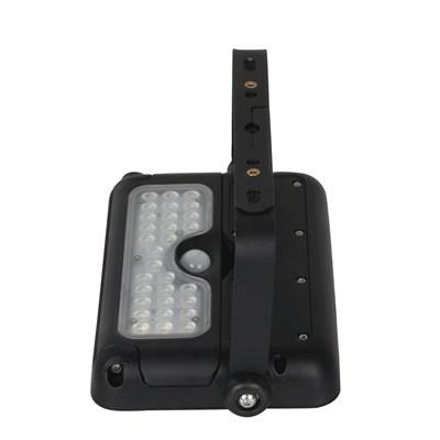 Arandela Solar DEMI Preto 360 LED 3000K IP65 com Sensor de Movimento