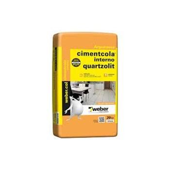 Argamassa Cimentcola Interno Cinza AC1 20Kg Quartzolit