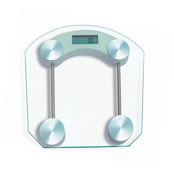 Balança Banheiro Transparente Quadrada 32cm Até 180kg Bestfer
