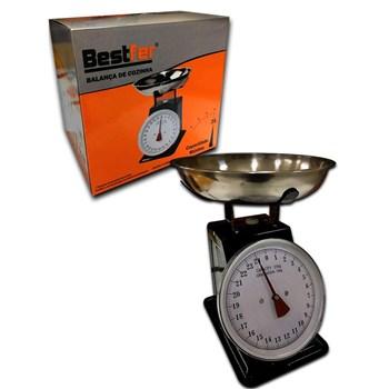 Balança De Cozinha Aço Inox Preta Até 25Kg Bestfer