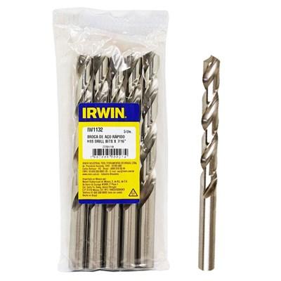 "Broca Aço Rápido 7/16"" 11.11mm Irwin Kit c/ 5"