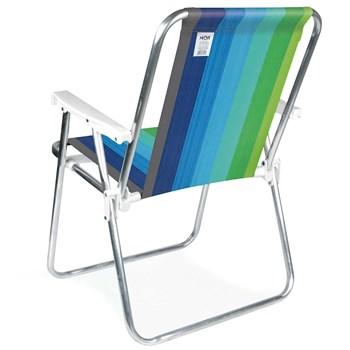 Cadeira de Praia Piscina Alta Confort Alumínio Dobrável Cores Mor