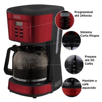 Cafeteira Elétrica 900W Programável 1.5L Black Decker