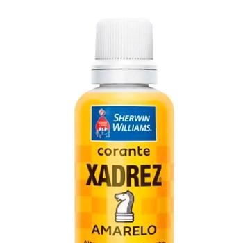 Caixa com 12 Corante Líquido Xadrez 50ml Bisnaga Amarelo
