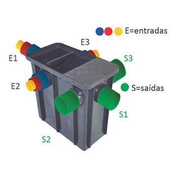 Caixa de Gordura 50 Litros PP 3E 3S 52x29x48cm Mallton