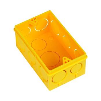Caixa de Luz 4x2 Amarela Amanco