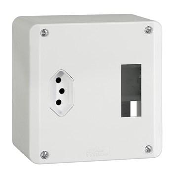 Caixa Proteção Com Tomada 2P+T Mectronic
