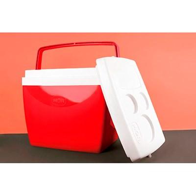 Caixa Térmica Cooler 26 Litros com Alça Vermelha Mor