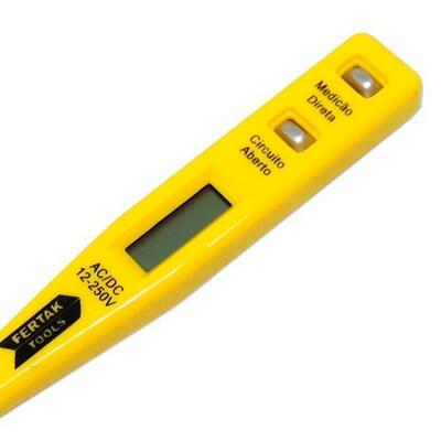Chave de Teste Digital 12v a 220v Fertak Tools