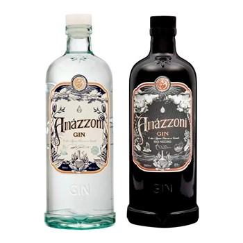 Combo Gin Premium Artesanal Clássico + Rio Negro Amázzoni Premium 750ml C/4 Taças