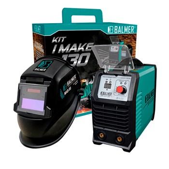 Combo Inversora Solda Joy 133 Máscara Dv I-Make 130 Balmer