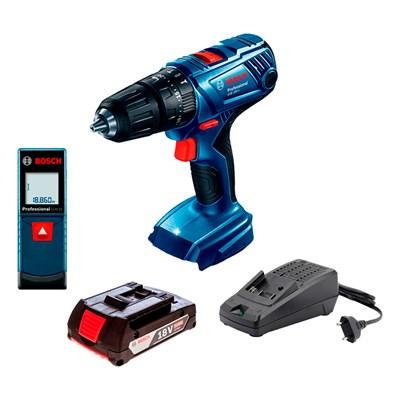 Combo Parafusadeira GSB 180 Trena Laser GLM 20 e Bat. e Carregador Bosch