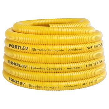 Conduíte Amarelo 25mm 50 metros Fortlev