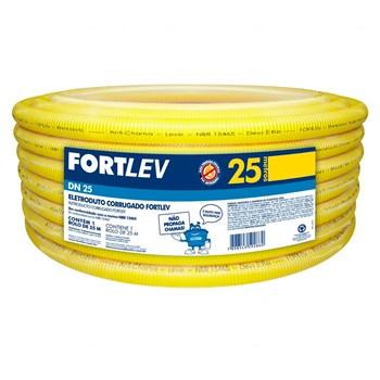 Conduíte Amarelo 32mm 25 metros Fortlev