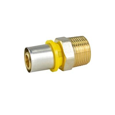 """Conector Fixo Macho 16mm x 1/2"""" Linha Gás Amanco"""
