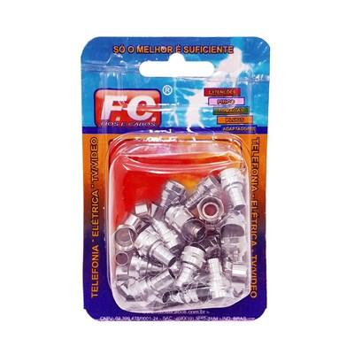 Conector RG6 Com Anel FC Kit c/25