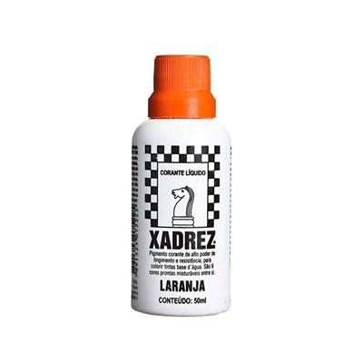 Corante Líquido Xadrez 50ml Bisnaga Laranja Caixa Com 12