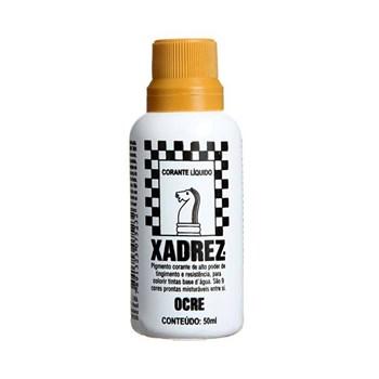 Corante Líquido Xadrez 50ml Bisnaga Ocre Caixa Com 12