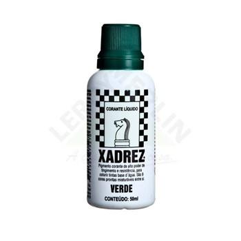 Corante Líquido Xadrez 50ml Bisnaga Verde Caixa Com 12