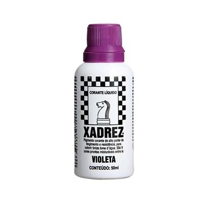 Corante Líquido Xadrez 50ml Bisnaga Violeta Caixa Com 12