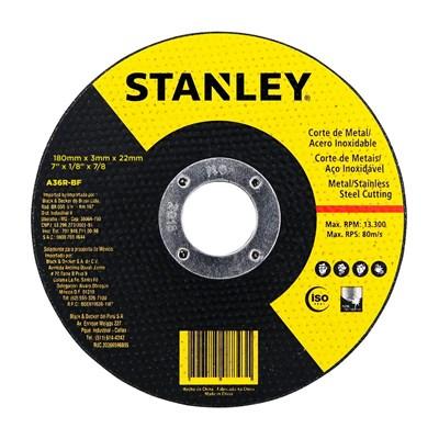 "Disco de Corte Abrasivo Metal 7""x3mmx7/8"" Stanley"