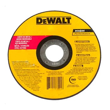 "Disco De Corte Inox e Metal 7"" X 2.0 X 7/8"" 180mm Dewalt"