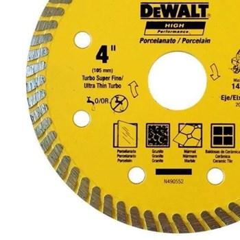 """Disco de Corte Porcelanato 4"""" DeWalt"""
