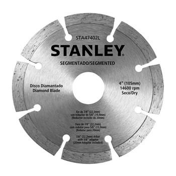 "Disco Diamantado Segmentado Seco 4"" Stanley"