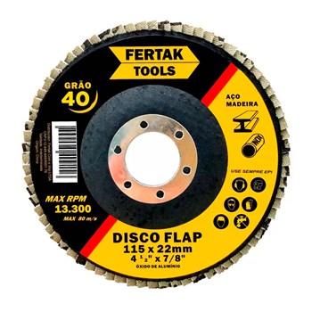 """Disco Flap 4.1/2"""" Grão 40 Fertak Tools"""