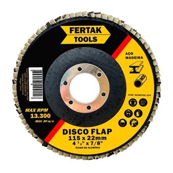 """Disco Flap 4.1/2"""" Grão 80 Fertak Tools"""