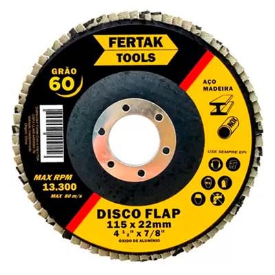 """Disco Flap 7"""" Grão 60 Fertak Tools"""