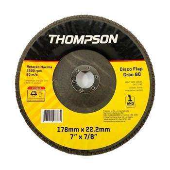 "Disco Flap 7"" Grão 80 Thompson"