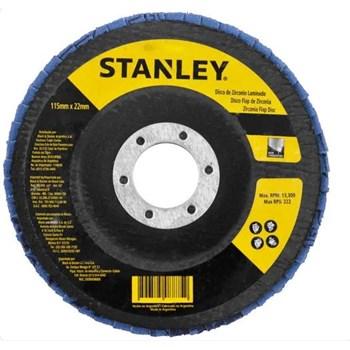 Disco Flap 7'' x 7/8'' Grão 120 Stanley