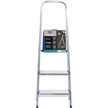 Escada doméstica de alumínio 3 degraus Mor