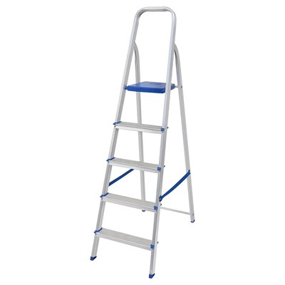 Escada doméstica de alumínio 5 degraus Mor