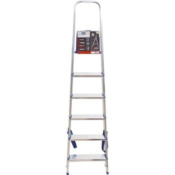 Escada doméstica de alumínio 6 degraus Mor