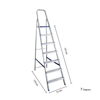 Escada Doméstica de Alumínio 7 degraus Belfix
