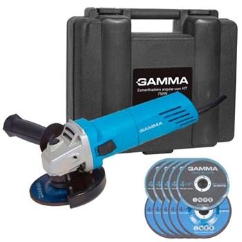 Esmerilhadeira Angular 4.1/2 750W Maleta e 10 Discos Gamma