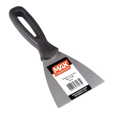 Espátula de Aço 8cm Cabo Plástico Max