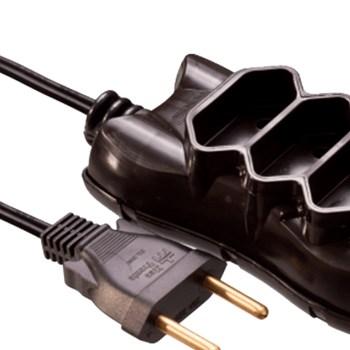 Extensão Elétrica 3 Metros 2x0.75 Mectronic - Preto