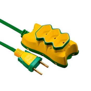Extensão Elétrica 3M 2x0.75 Mectronic - Amarelo e Verde