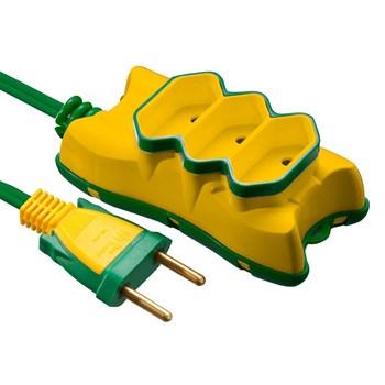 Extensão Elétrica 5M 2x0.75 Mectronic - Amarelo e Verde