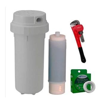 Filtro Aqualar AP230 c/ Refil, Chave Grifo e Veda Rosca