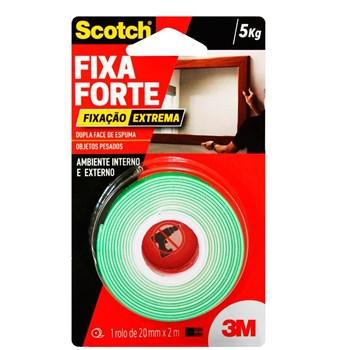 Fita 3M Dupla Face Scotch Fixa Forte Fixação Extrema 24mm x 2m
