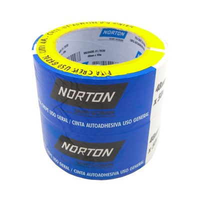 Fita Crepe Uso Geral 48mmx50m Kit c/2 Rolos Norton