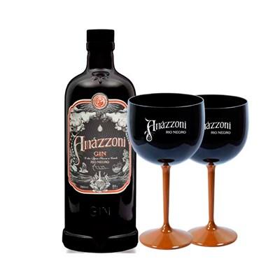 Gin Artesanal Rio Negro Premium Amázzoni 750ml C/ 2 Taças
