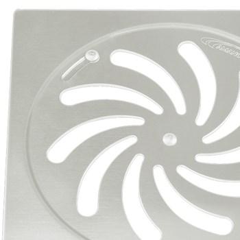 Grelha Quadrada Aço Inox com Caixa 15x15cm Amanco