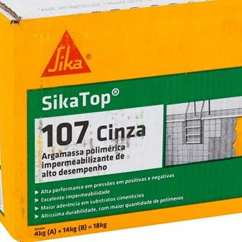 Impermeabilizante SikaTop 107 Cinza Caixa 18kg Sika